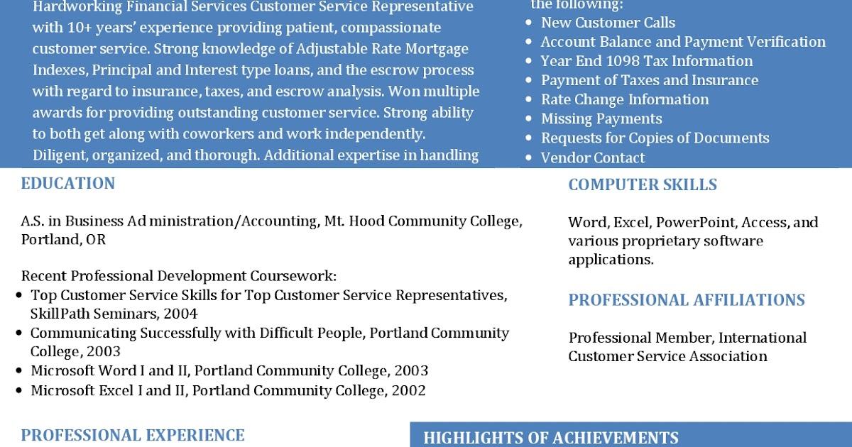 Contoh Curriculum Vitae Bahasa Inggris Financial Services