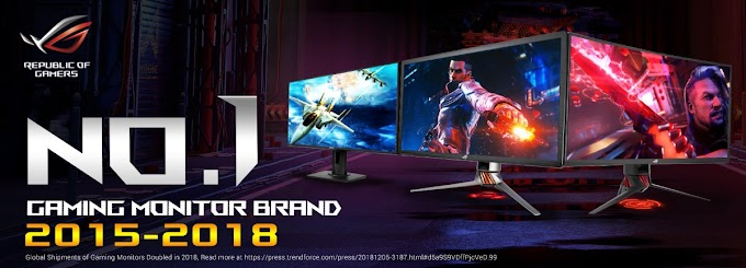 ASUS Republic of Gamers Hailed as 2018 World Leader in Gaming Monitors
