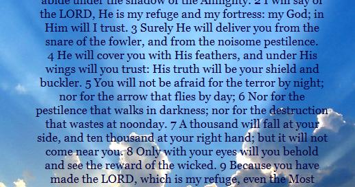 Men S Fellowship Psalm 91