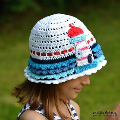 Crochet summer lighthouse hat pattern