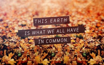 Wallpaper: This Earth Is All We Have In Common