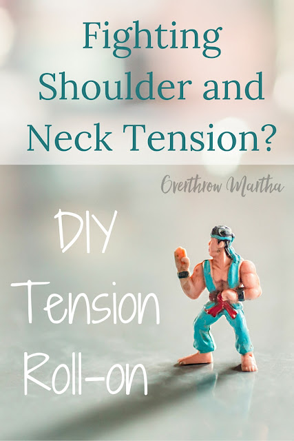 Shoulder and Neck Tension? This easy DIY roll-on can help to let go of tension and stress in your neck and shoulder area.