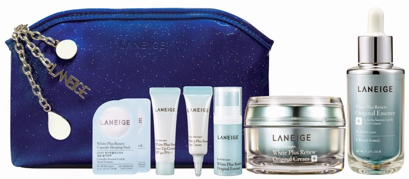 Laneige Sparkling White Essentials, Gift Set, Laneige 2014 Holiday Collection, Laneige, Holiday Set, Christmas Set, Skincare, Makeup, Beauty