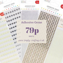 Simply Creative Adhesive Gems just 79p