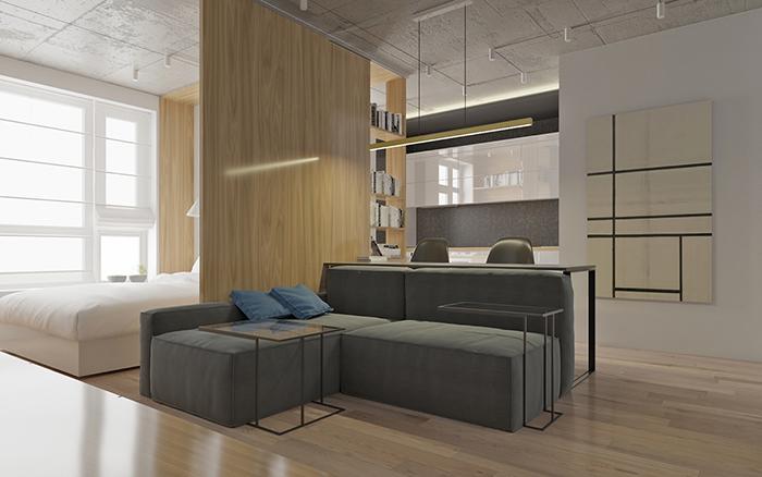 Thiết kế nội thất căn hộ chung cư nhỏ 42m2- 7