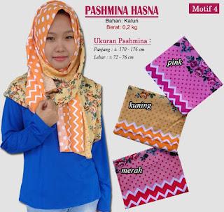 Pashmina monochrome murah bergaya modern dan trendy-hasna 4