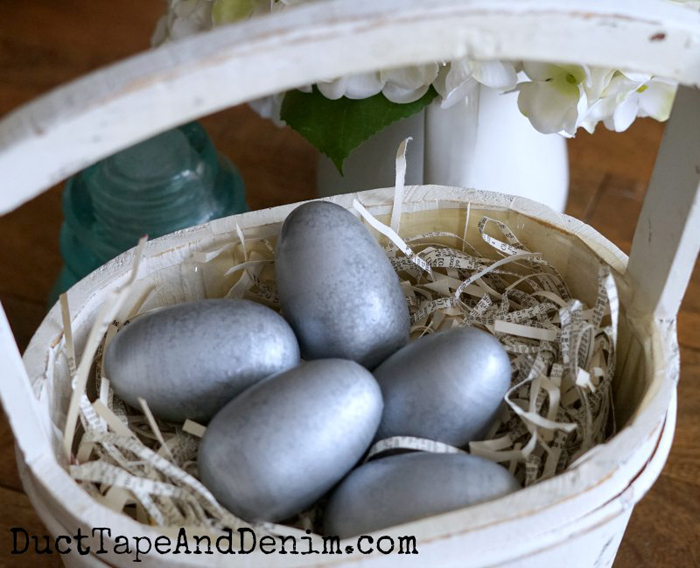 Galvanized Easter Eggs
