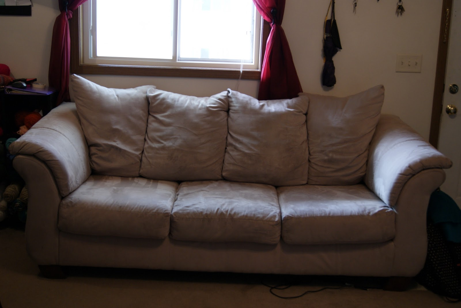 clean microfiber sofa with vodka leather sleeper nyc a little moore love how to couch