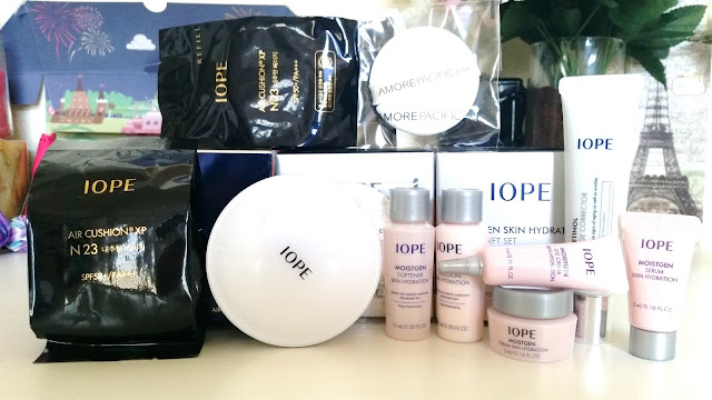 The entire IOPE Cushion set.