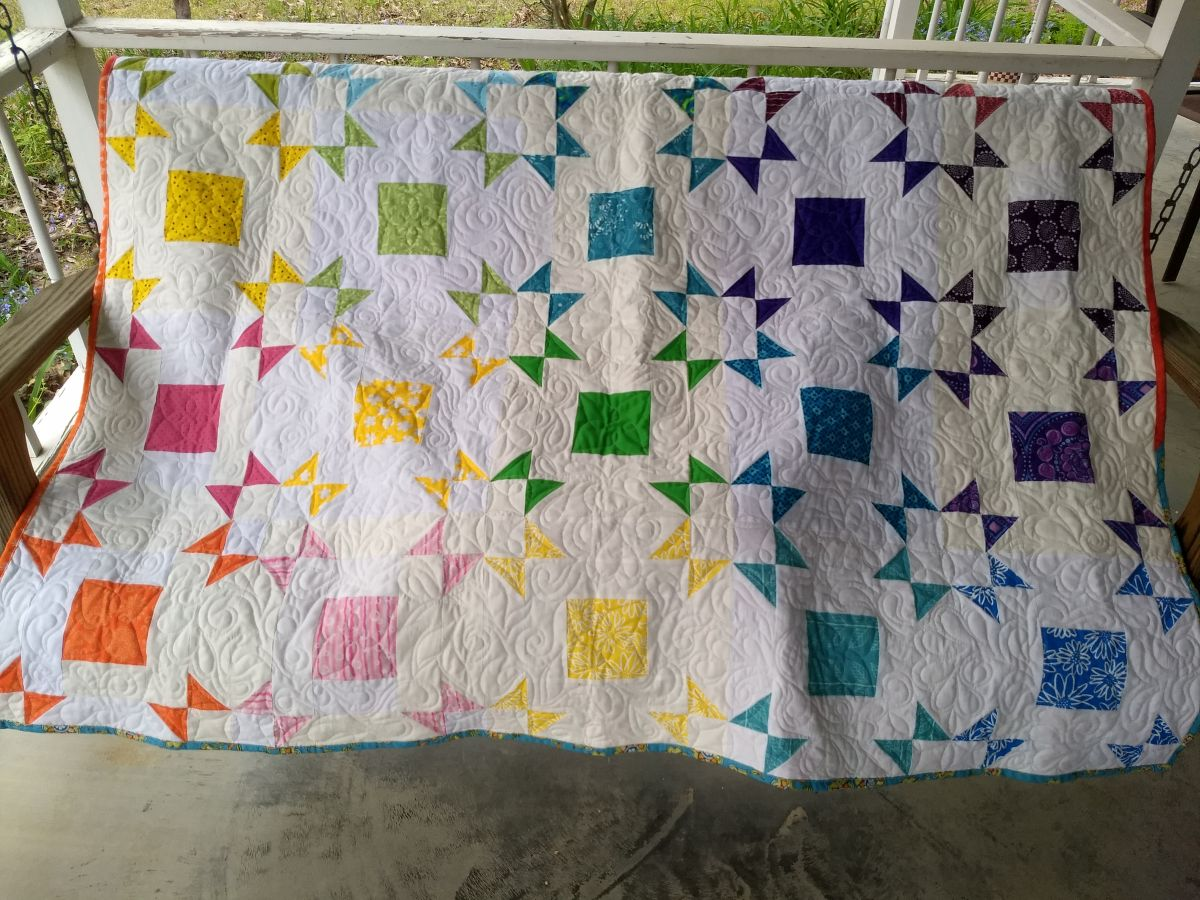 Kat & Cat Quilts: Rainbow Stars and Dinosaurs