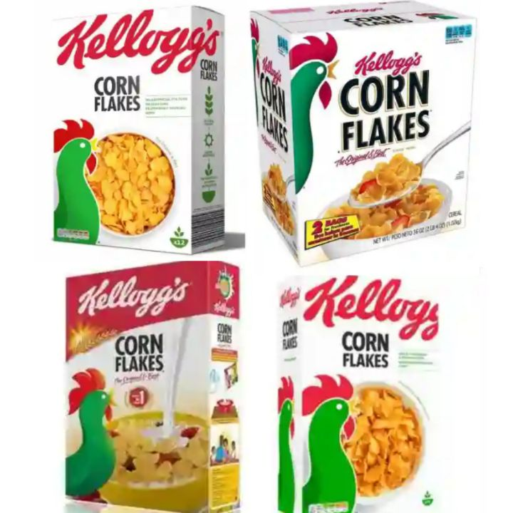 Kellogg's Breakfast Cornflakes - Crunchy Morning Cereals for Family