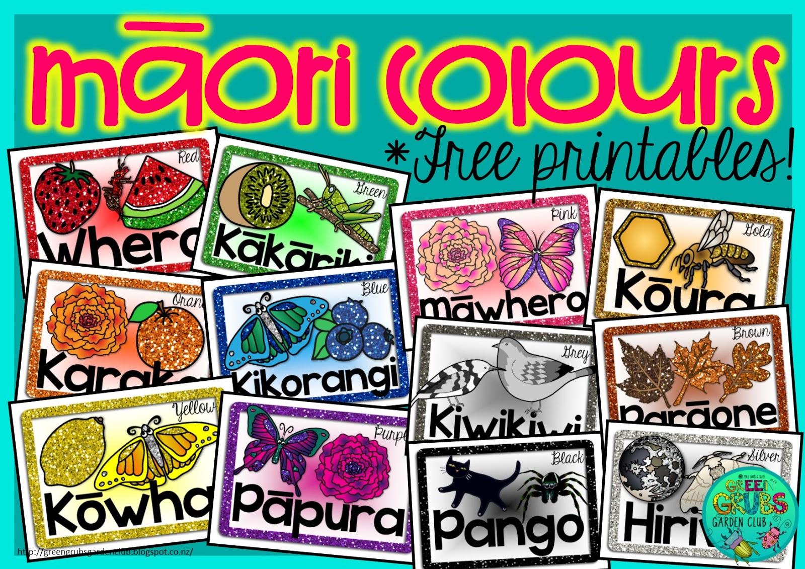 Green Grubs Garden Club M Ori Amp Samoan Colours Free Prinatable Mini Posters