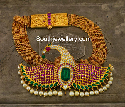 South Indian Long Necklace Patterns - Necklaces and Pendants Ideas