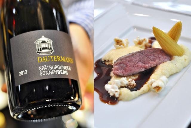 Bavette vom Nebraska-Rind und Sonnenhang Spätburgunder Jahrgang 2013 aus dem Weingut K. & K. Dautermann