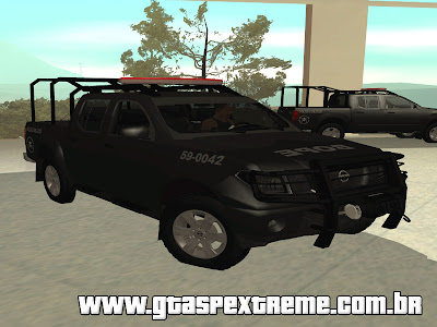 Nissan Frontier BOPE PMERJ para GTA San Andreas