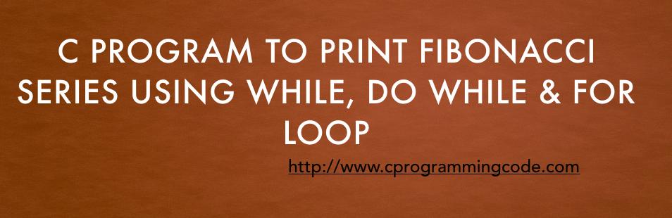write a program for fibonacci series in c sharp