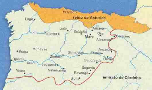 Mapa Reino De Asturias.Patriotas Vascongados Vasconia En El Reino De Asturias