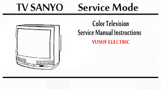 Service Mode TV SANYO Berbagai Type _ Color Television Service Manual Instructions