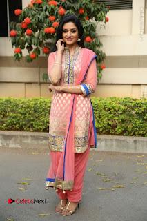 Actress Vimala Raman Stills in Beautiful Pink Salwar Kameez at (ONV) Om Namo Venkatesaya Press Meet  0271.JPG
