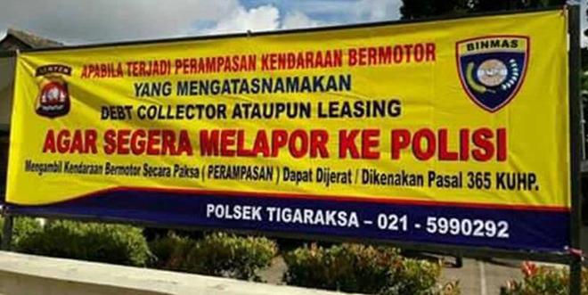 Lapor polisi jika kendaraan Anda dirampas debt collector di jalan