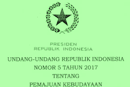 UU No 5 [Tahun] 2017 (Tentang) PEMAJUAN KEBUDAYAAN