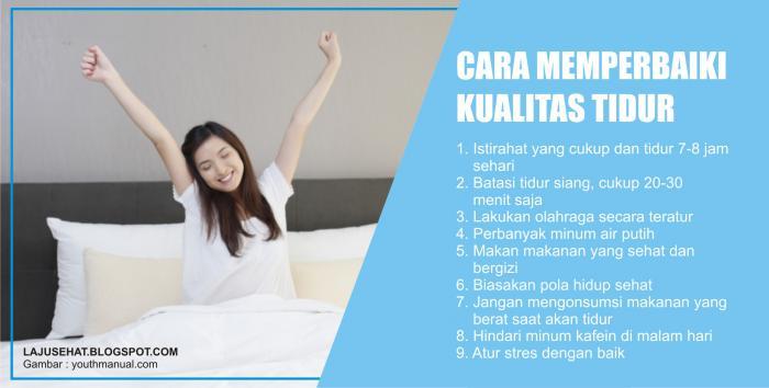 Cara Memperbaiki Kualitas Tidur
