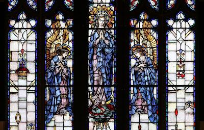 Imagem da Imaculada Virgem Maria, vitral, #2