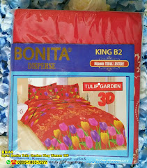 Sprei Bonita Tulip Garden King Ukuran 180