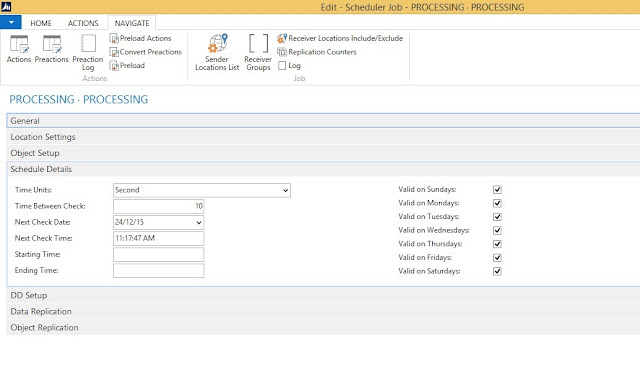 Schedule Details in Scduler Job configure NAS NAV 2013 R2