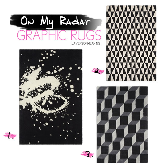 On My Radar Graphic Rugs Layers Of