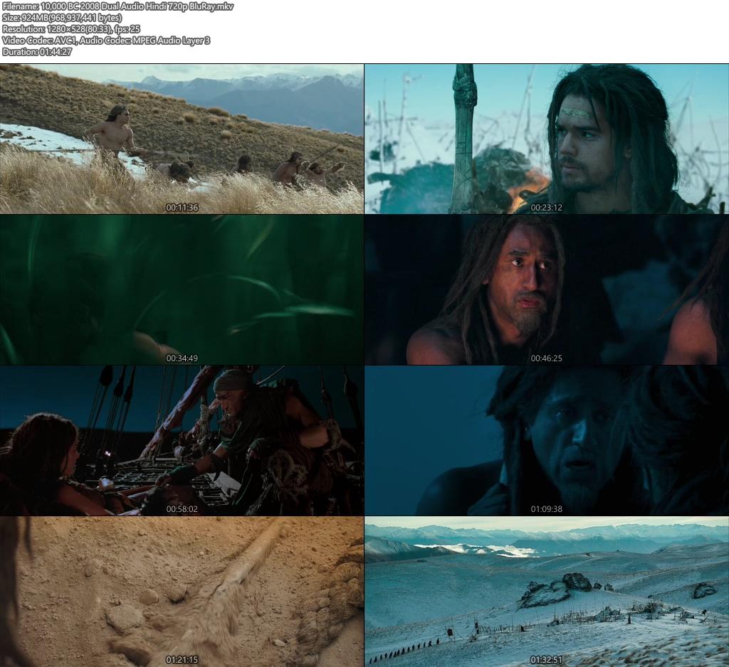 PG-13] 10,000 BC (2008) Dual Audio Blu-Ray - 200MB   300MB
