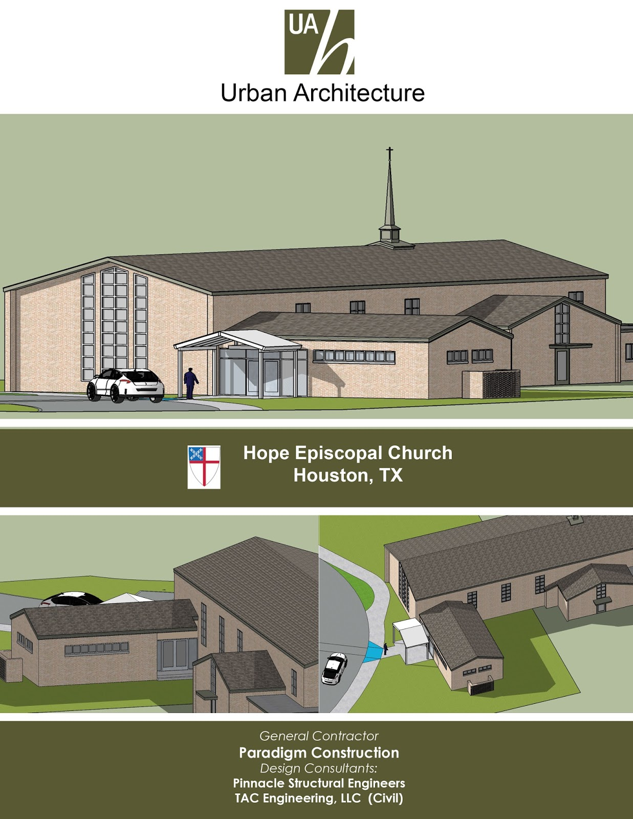 Urban architecture houston 2017 schematic design completion of narthex expansion 1betcityfo Gallery