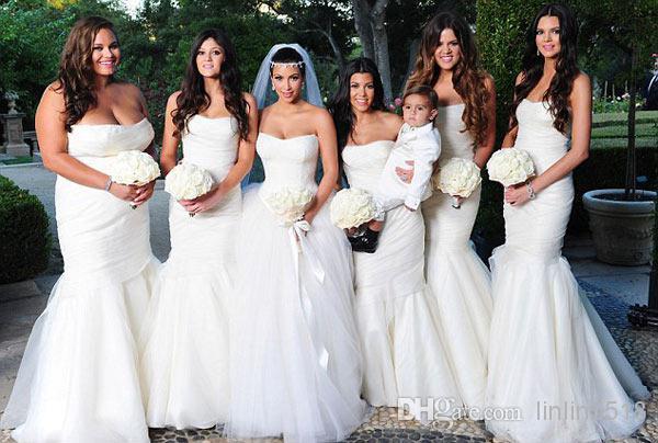 Vestido noiva estilo sereia das famosas, Kim Kardashian e irmãs