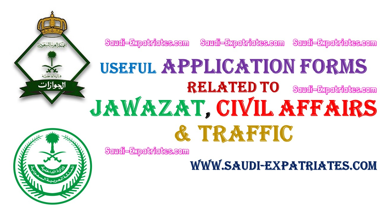 JAWAZAT CIVIL AFFAIRS TRAFFIC RELATED FORMS