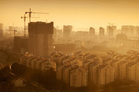 Smog over Hangzhou, China (stock image). Credit: © eugenesergeev / Fotolia) Click to Enlarge.
