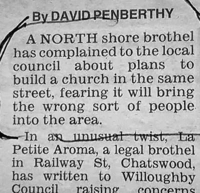 Funny Wrong Sort of People Newspaper Article
