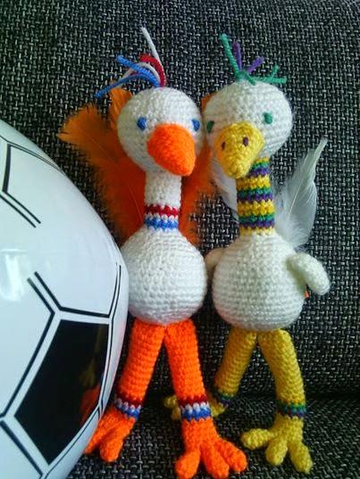 voetbal vogels haken amigurumi
