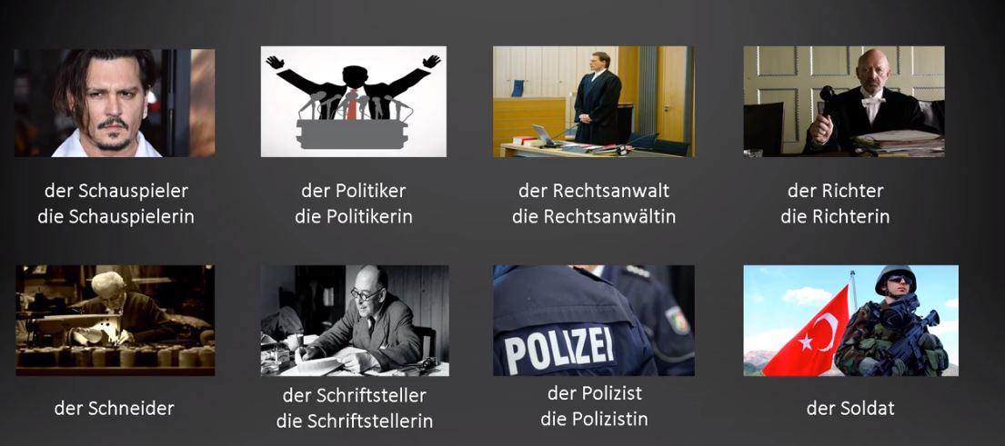 Almanca meslek grupları