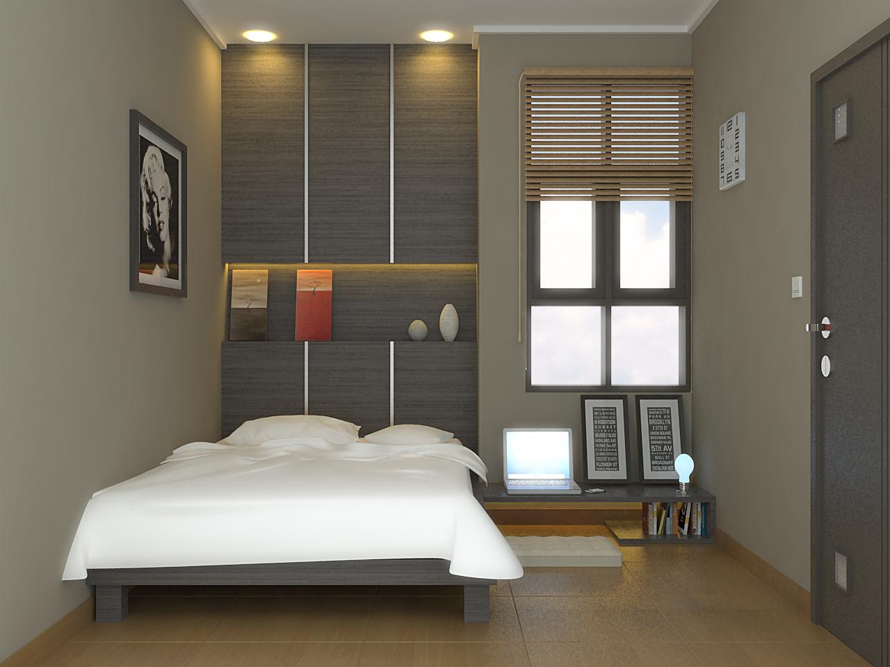 Desain Kamar Tidur Sederhana Tanpa Ranjang Interior Rumah