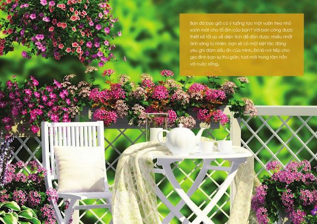 Vườn thượng uyển, vườn treo tại chung cư The Golden An Khánh