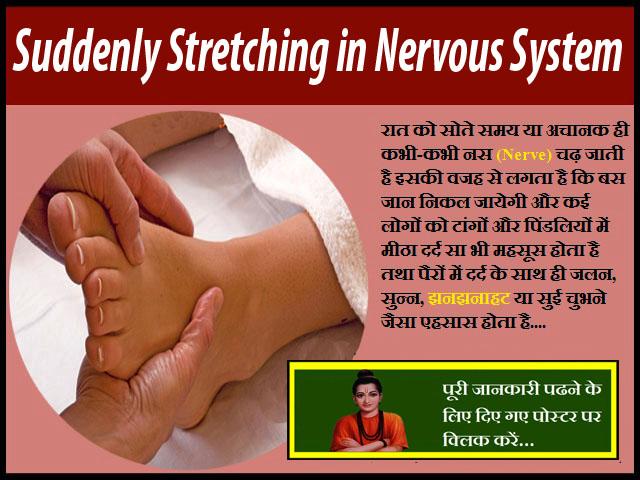 Suddenly Stretching in Nervous System-अचानक तंत्रिका तंत्र में खिंचाव होना