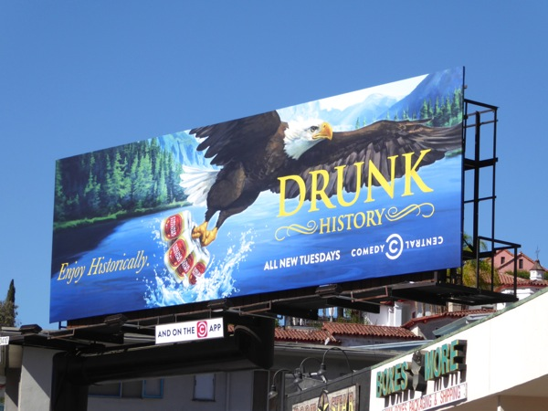 Drunk History season 4 Bald Eagle billboard