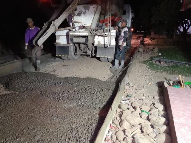 "Proyek Betonisasi Jalan Desa Cantigi Kulon di ""Rampok"""