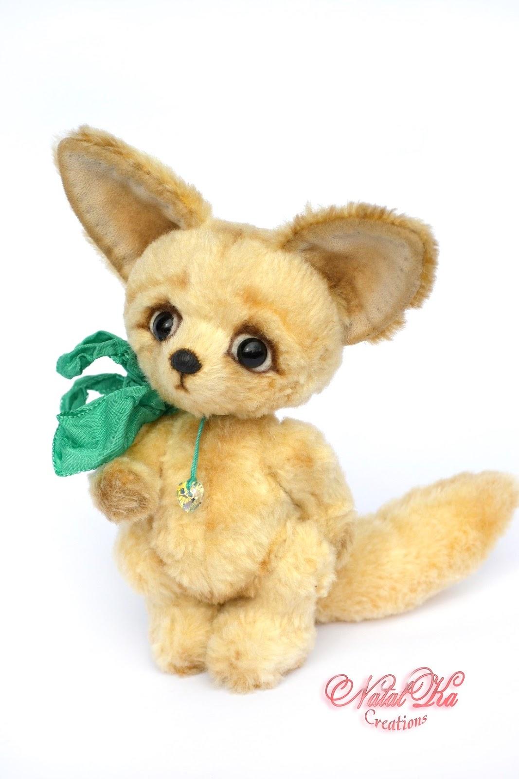 Artist teddy fox, fenec fox, teddies, Künstlerfuchs, Wüstenfuchs, Fennek, Künstlerteddys, handmade by NatalKa Creations