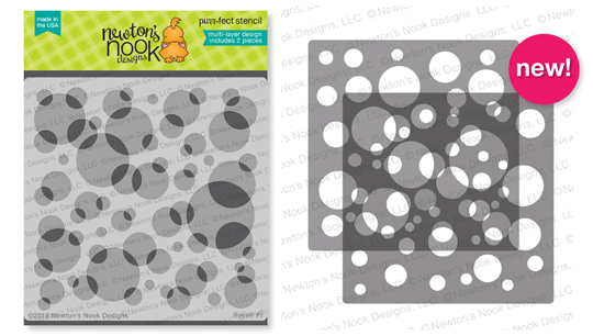 Bokeh Stencil Set | Two piece circle Stencil by Newton's Nook Designs #newtonsnook