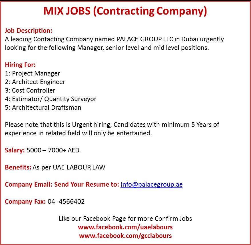 Contracting Companies Confirm Jobs Construction Companies Confirm Jobs  Project Manager Job Architect Jobs