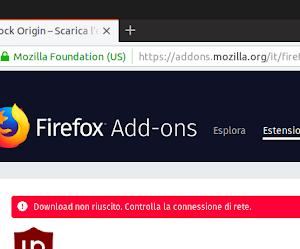 Un certificato scaduto causa il blocco delle estensioni su Firefox