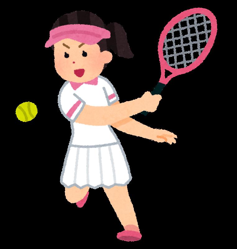 テニス選手のイラスト(女性)|かわいいフリー素材集いらすとや