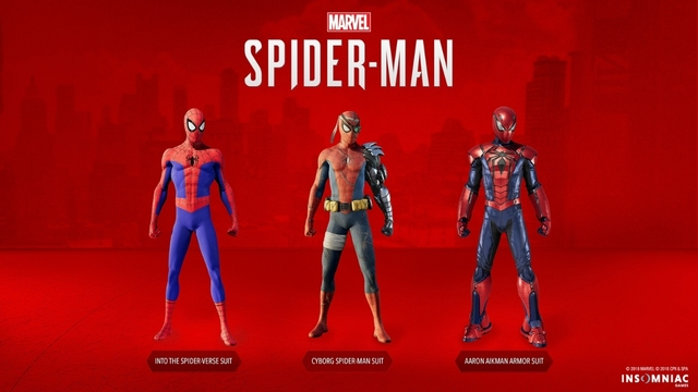 Spider man ps4 new suits