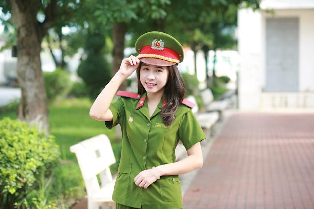 ve dep cua hot girl hoc vien canh sat nhan dan - Tổng Hợp các HOT Girl Nữ Cảnh Sát đốn tim FAN nhất Việt Nam